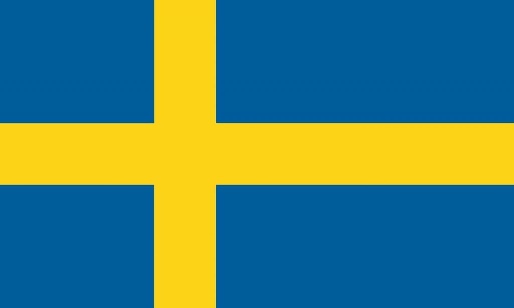 Yellow and blue flag from Sweden