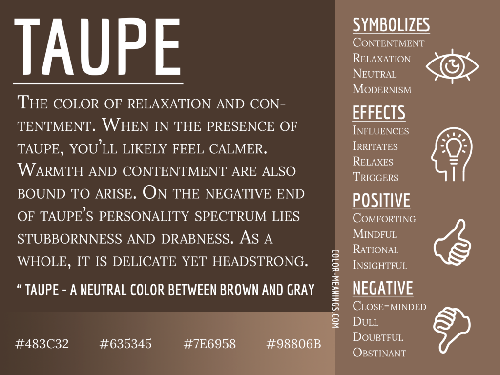 Taupe Color Meaning Infographic