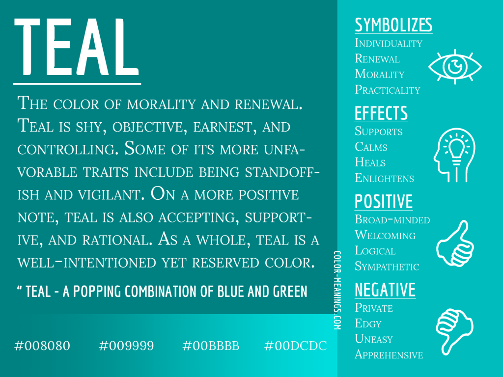 Teal Color Meaning Infographic