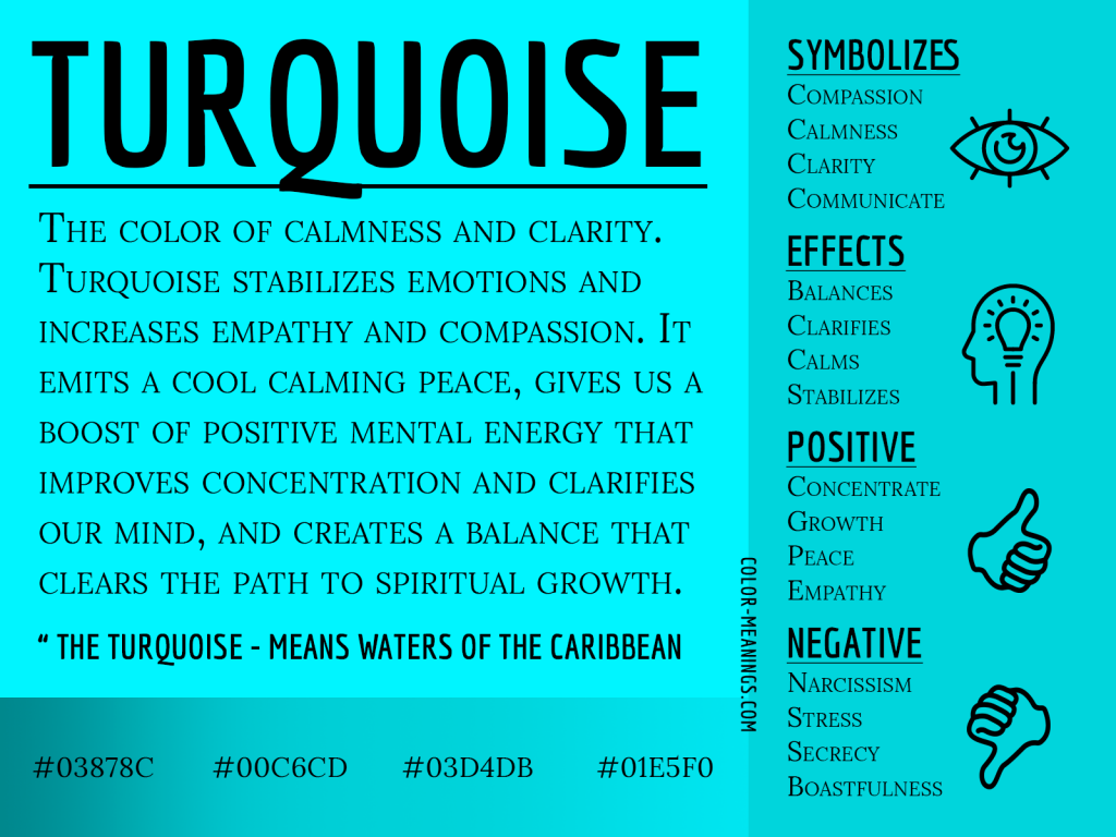 Turquoise Color Meaning Infographic
