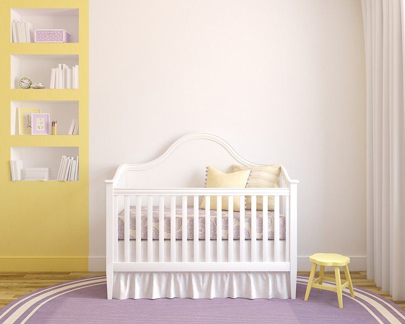 baby's room in purple color