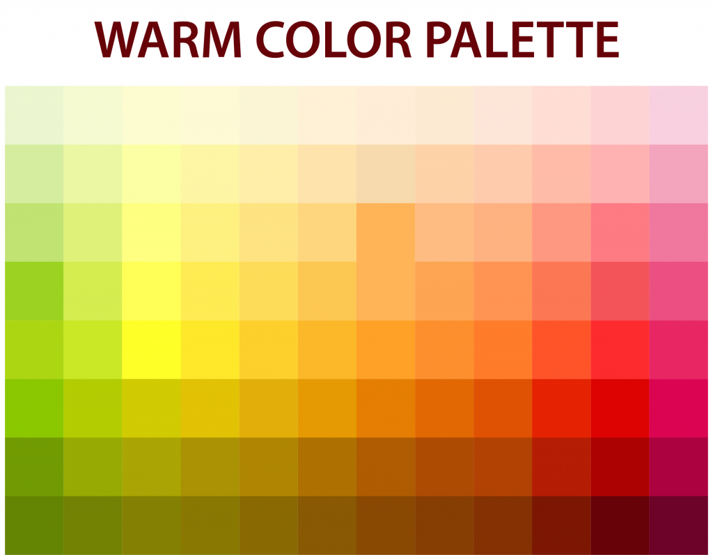 Color palette with warm tones