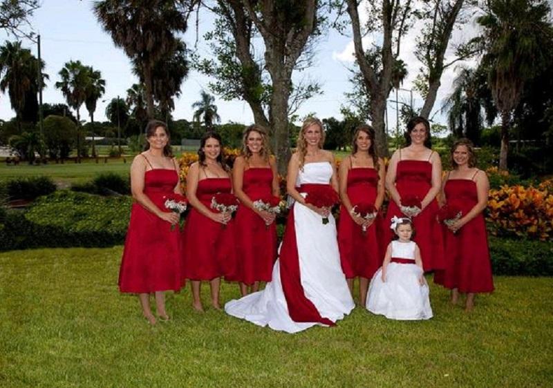red wedding color palette
