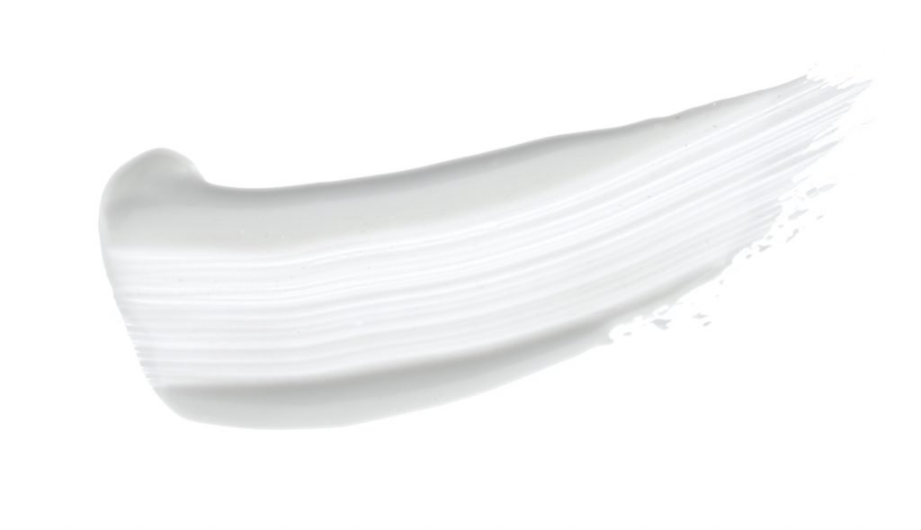 White brush stroke isolated over white background