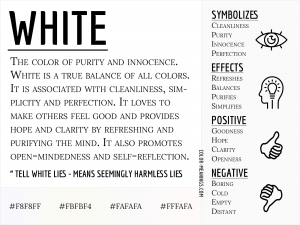 White Color Meaning Infographic
