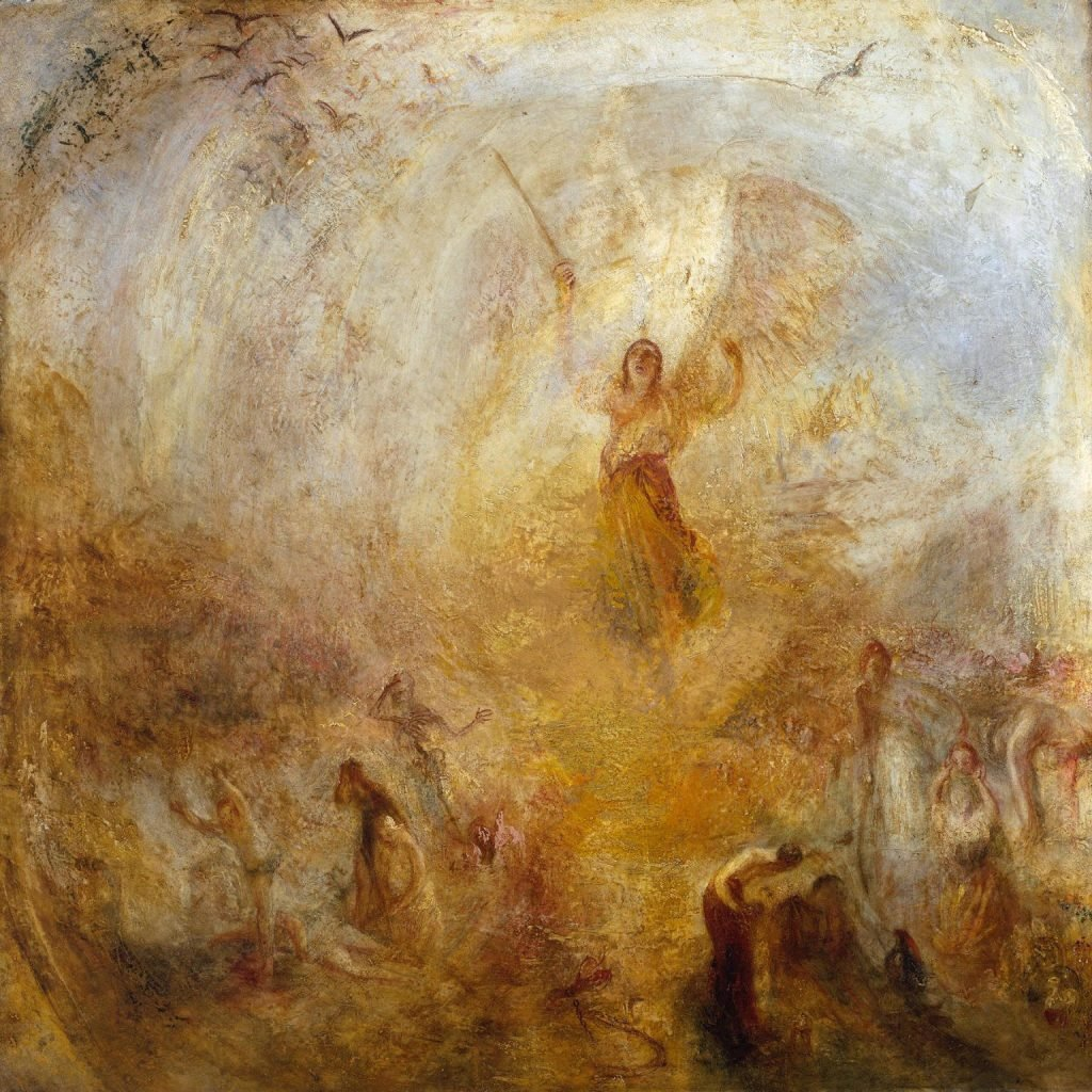 The Angel Standing in the Sun painting by William Turner