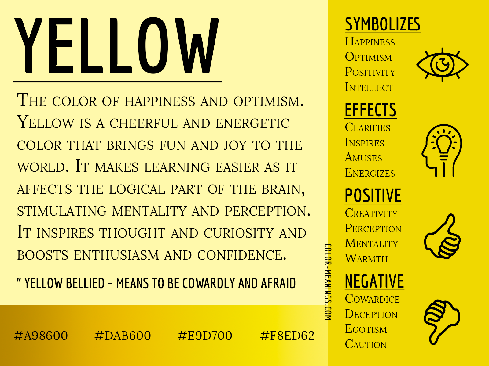 Yellow Color Meaning The Color Yellow Symbolizes Happiness And Optimism