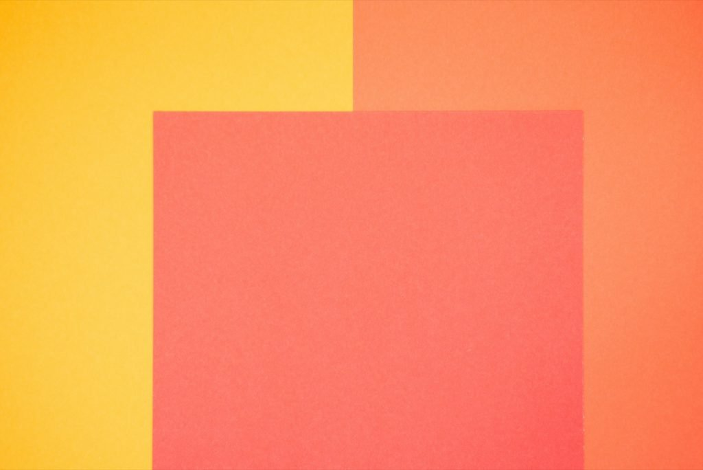 Yellow, orange and red colored paper
