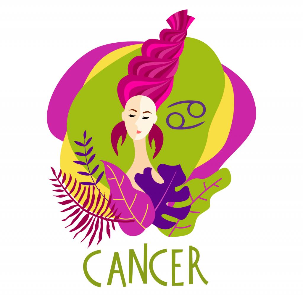 Illustration of zodiac sign Cancer
