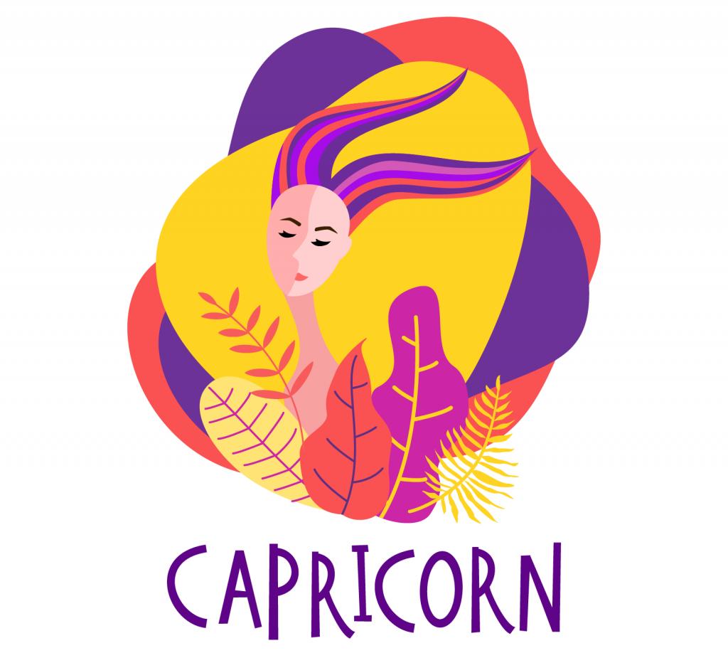 Illustration of zodiac sign Capricorn