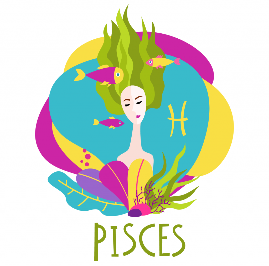 Illustration of zodiac sign Pisces