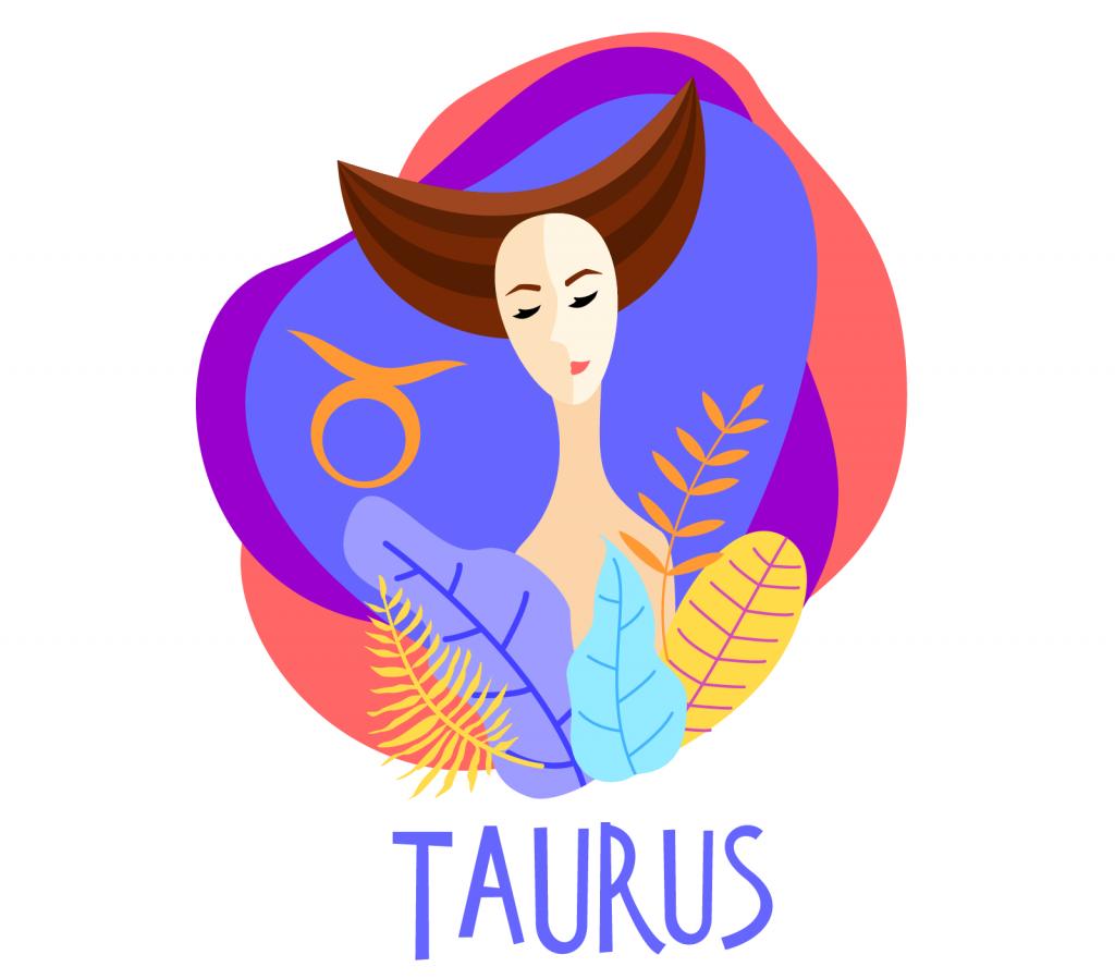 Illustration of zodiac sign Taurus